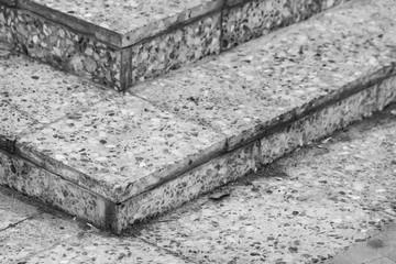 Monochrome granite stairs