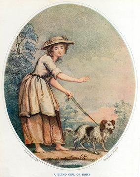 Blind Roman Girl Dog