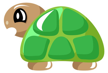 Angry Cartoon Green Turtle Tortoise Vector Illustration