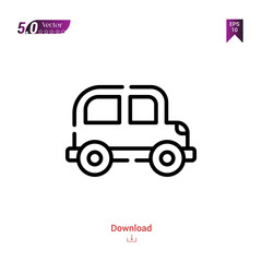 Outline car icon isolated on white background. Best modern. Graphic design,children-toys, mobile application, beauty icons 2019 year, user interface. Editable stroke. EPS10 format vector