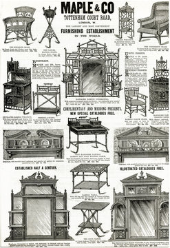 Advertisement for MAple Co Furniture 1890