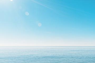 calm, minimalistic seascape