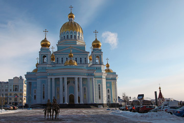 The Cathedral of St. Theodore Ushakov in Saransk Russia