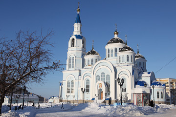 Temple of Kazan icon of the mother of god in Saransk, Russia