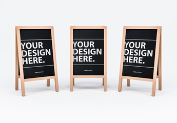 3 Blackboard Menu Signs Mockup