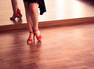 Ballroom dance salsa dancer