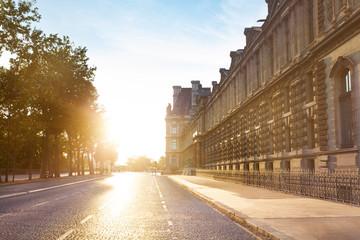 Street Quai Francois Mitterrand near Louvre, Paris
