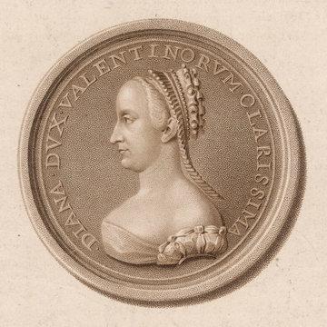 Diane De Poitiers Medal