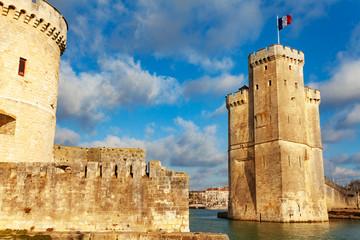 Tower gates of La Rochelle old harbor