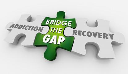 Addiction Recovery Treatment Bridge Gap Puzzle 3d Illustration
