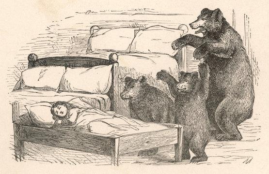 Bears Find Goldilocks Nursery Tale