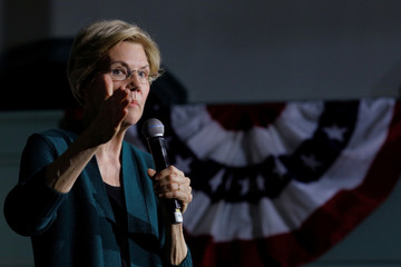 Democratic 2020 U.S. presidential candidate Warren speaks in Exeter