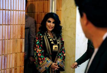 Afghan singer Aryana Sayeed walks at Intercontinental Hotel in Kabul