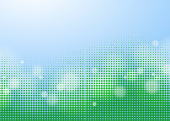 Abstract Blue Green Background, Vector Graphics