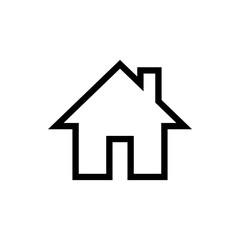 Home icon vector. House vector icon