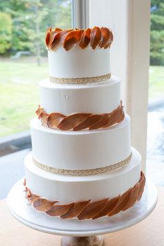 秋のウェデングケーキ