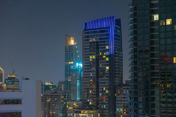 View of bangkok at twilight night