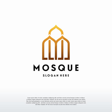 luxury Mosque Logo Template Design Vector, Islamic Logo template