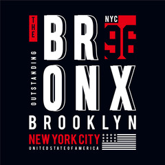 the bronx nyc typography tee design for t shirt, vector illustration,element vintage artistic apparel product - Vector
