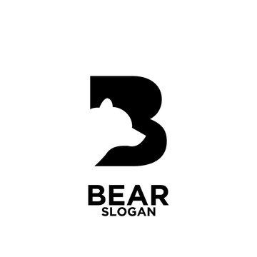 Bear logo icon designs vector illustration template