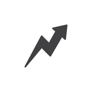 Zig-Zag up arrow vector icon. filled flat sign for mobile concept and web design. Arrow upward glyph icon. Symbol, logo illustration. Pixel perfect vector graphics