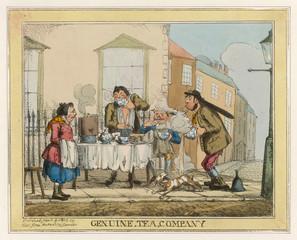 Cartoon, Street Tea Sellers