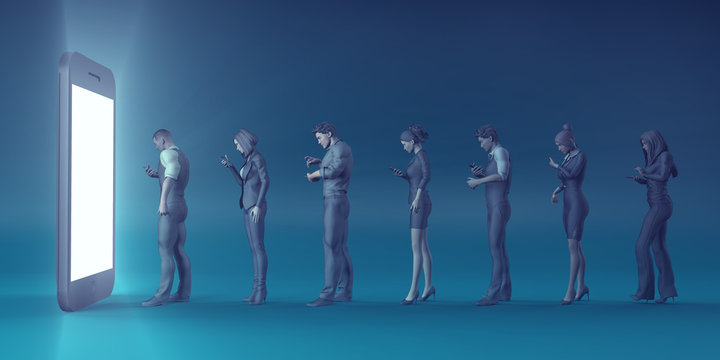 Technology Smartphone Turning People into Zombies