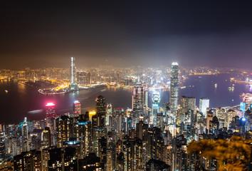 ヴィクトリア・ピークから眺める香港 夜景
