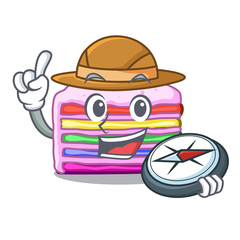 Explorer rainbow cake in the cartoon shape