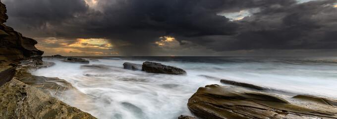 Rock Ledge Seascape Panorama