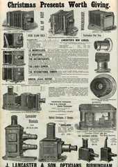 Advertisement for LAncAster Sons Bellows CAmerAs 1886