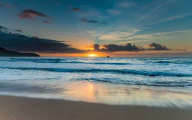 Bright and Blue Sunrise Seascape