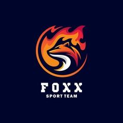 Fox Sport Concept illustration vector Design template