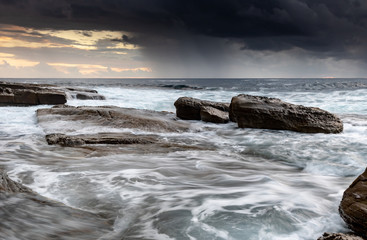 Moody Early Morning Seascape