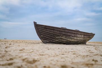Fischerboot an der Ostsee Küste von Rügen, Deutschland