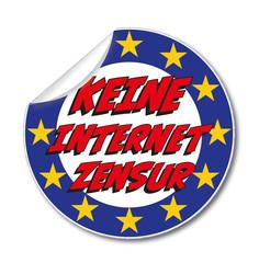 Aufkleber Keine Internet Zensur