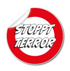 Aufkleber STOPPT TERROR