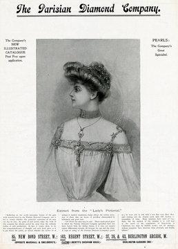 Advertisement for PArisiAn DiAmond CompAny 1904