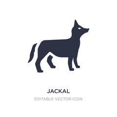 jackal icon on white background. Simple element illustration from Shapes concept.