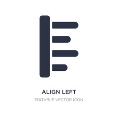 align left icon on white background. Simple element illustration from Signs concept.