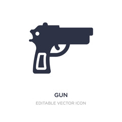gun icon on white background. Simple element illustration from Signs concept.