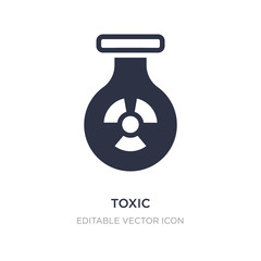 toxic icon on white background. Simple element illustration from Signs concept.