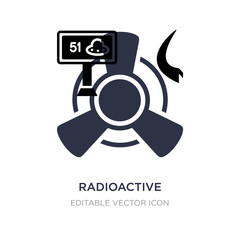 radioactive icon on white background. Simple element illustration from Signs concept.
