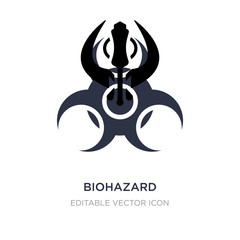 biohazard icon on white background. Simple element illustration from Signs concept.