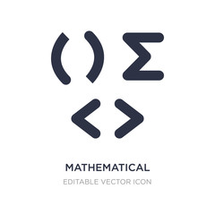 mathematical icon on white background. Simple element illustration from Signs concept.