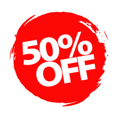 Special offer, 50 percent discount, vector design