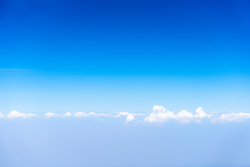 layer of blue sky and clouds scape