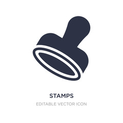 stamps icon on white background. Simple element illustration from Social media marketing concept.