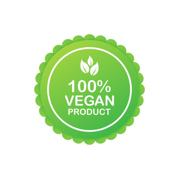 100 procent vegan product. Healthy food labels with lettering. Vegan food stickers. Organic food badge. Lettering Natural. Vector illustration.