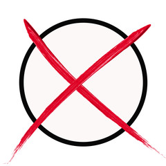 Wahlkreuz rot